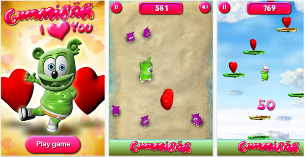 Gummibar I Love You Game App