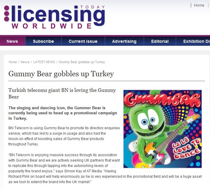 Gummy Bear Gobbles Up Turkey