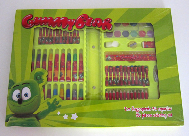 Gummibär 86 Piece Coloring Set