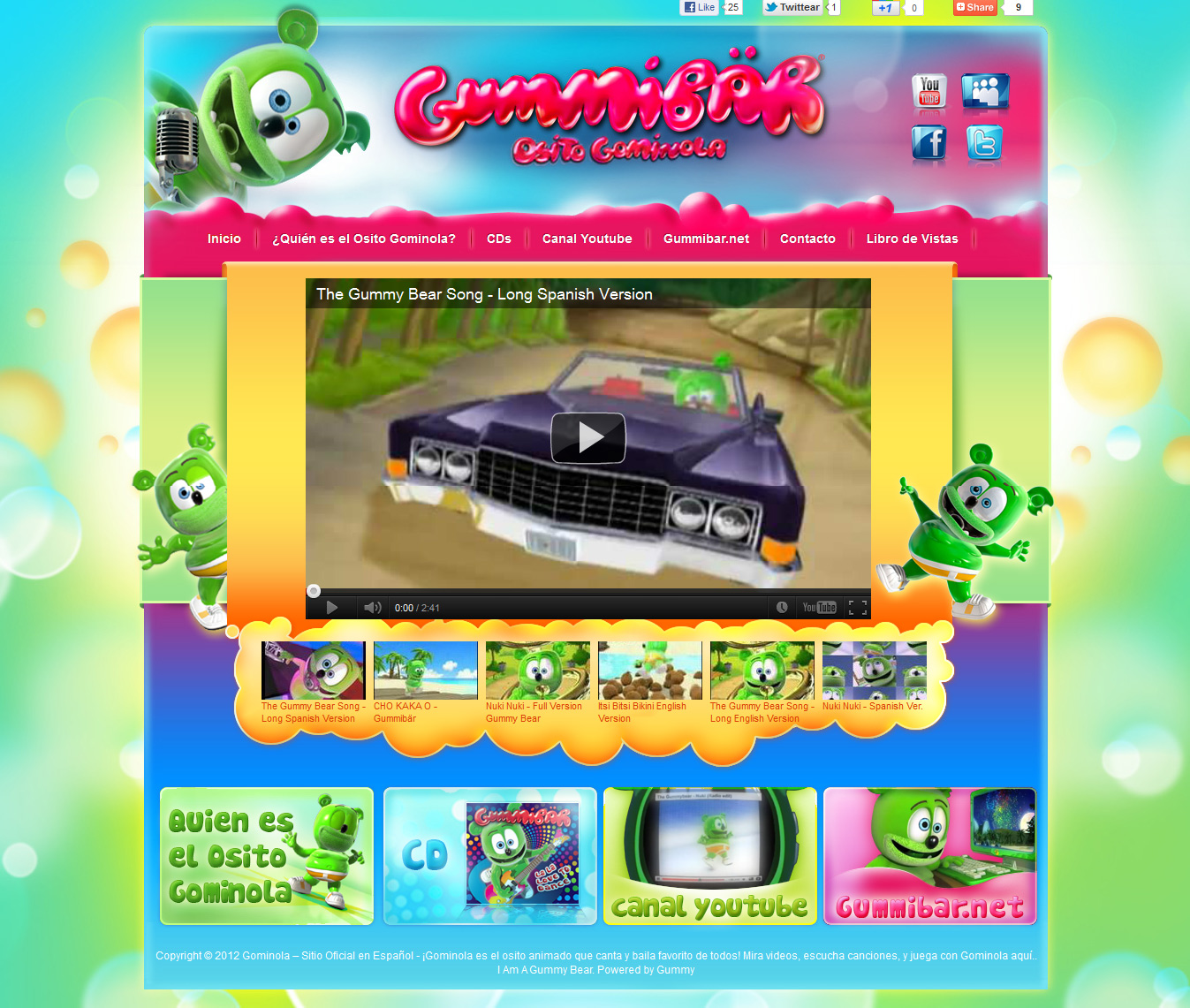 Gummybear International Launches New Spanish Language Website for Animated Gummy Bear Character Gummibär