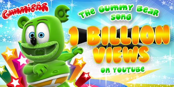 """I Am A Gummy Bear (The Gummy Bear Song)"" Joins the YouTube One Billion Views Club"