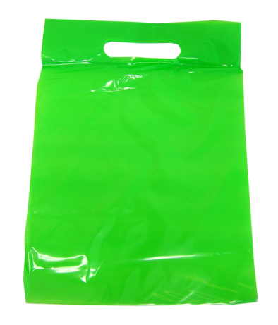 Green Plastic Treat / Goody / Favor Bags
