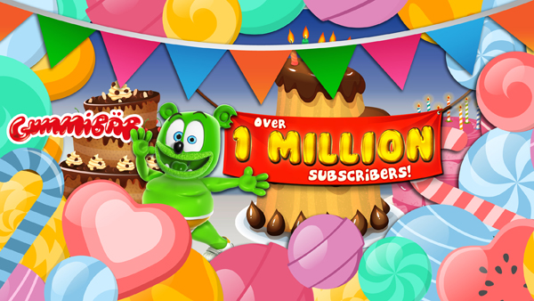 Gummybear International Gummibar YouTube Channel One Million Subscribers
