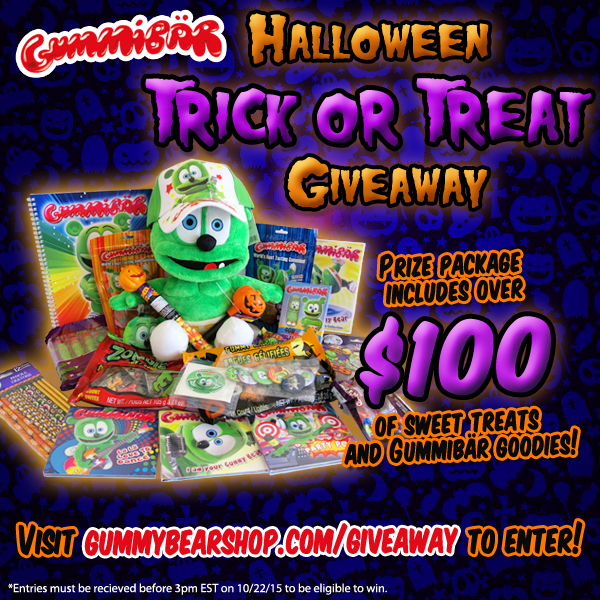 Gummybear International Announces Gummibar Trick-or-Treat Giveaway