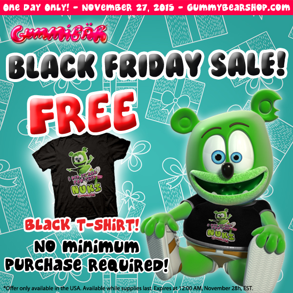 Gummybear International Announces Black Friday Weekend Sales