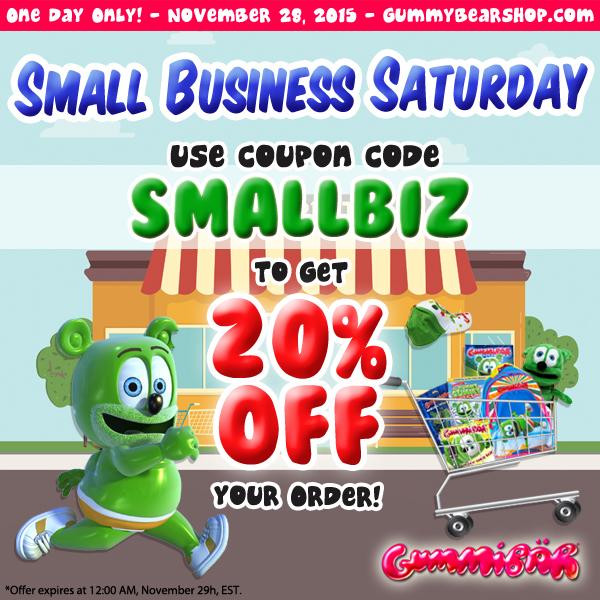 Small Business Saturday Gummibar Gummybear International The Gummy Bear Song Gummy Bear Shop