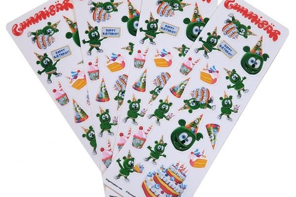 Gummibär Birthday-Themed Sticker Party Pack