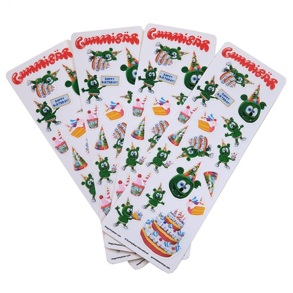 Gummibar birthday stickers gummybear gummy bear song