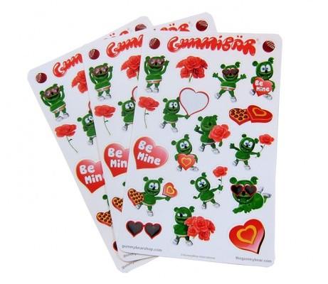 Gummibär Hearts and Love Planner Sticker Sheets