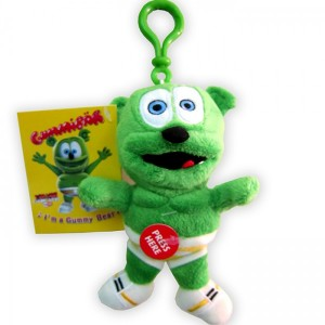gummibar singing sound plush toy keychain gummybear gummy bear song