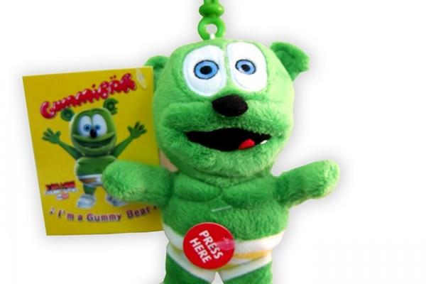 5.5″ Singing Gummibär Clip On Plush Toy