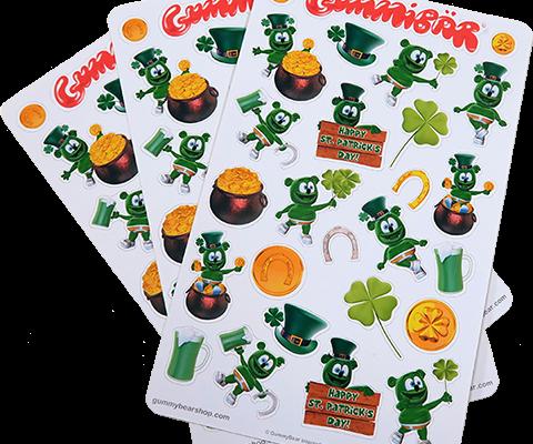 Gummibär St. Patrick's Day Sticker Sheets