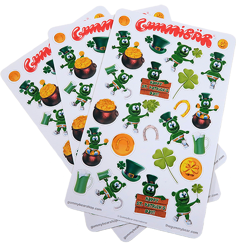 Gummybear International releases new Gummibär St. Patrick's Day Stickers