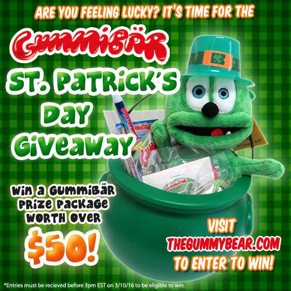 st patricks day giveaway banner gummibar gummybear gummy bear song