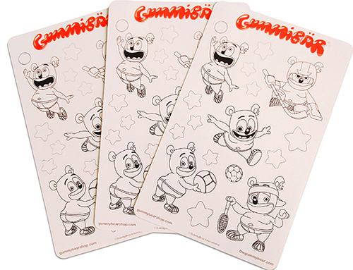 Gummibär Sports Coloring Stickers