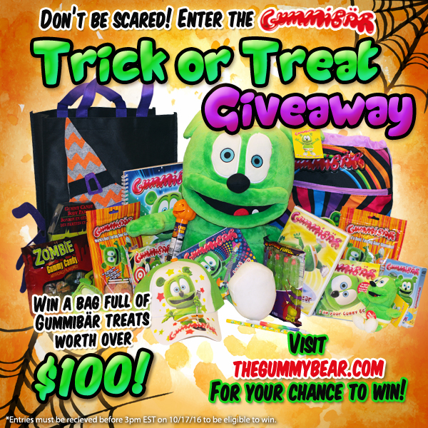 Gummybear International Announces Third Annual Trick or Treat Giveaway