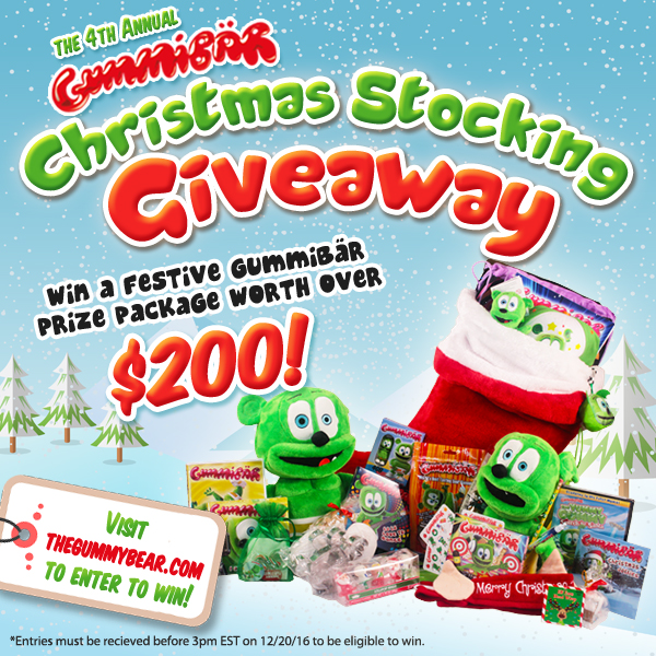 Gummybear International Announces Fourth Annual Gummibär Christmas Stocking Giveaway