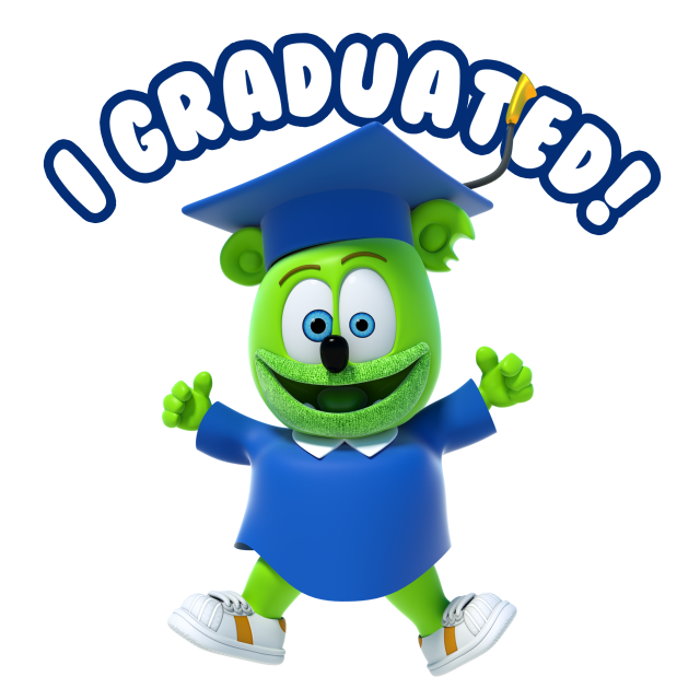 The Gummibär Shop Debuts A New Line Of Branded Character Graduation Items!